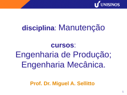 Prof. Dr. Miguel A. Sellitto