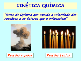 Cinética Química - Prof. Camilo Castro