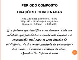 Periodo composto – coordenacao