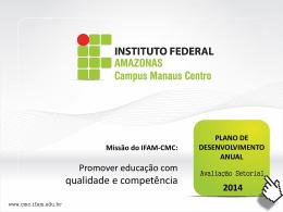 2014-AVALIAÇAO SETORIAL - diretorias_CMC