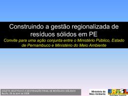 GESTÃO REGIONALIZADA RES SÓLIDOS