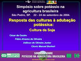 Simpósio sobre potássio na agricultura brasileira. São Pedro, SP
