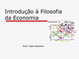 Introdução à Filosofia da Economia