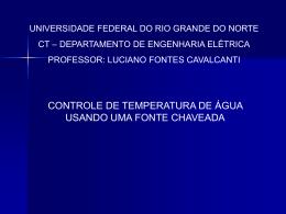 PROJETO_FINAL - DEE - Departamento de Engenharia Elétrica