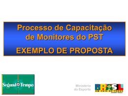 Planejamento de Capacitação de Monitores
