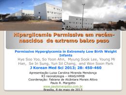 Hiperglicemia permissiva em recém