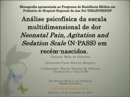 Análise psicofísica da escala multidimensional de dor Neonatal Pain