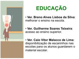 EDUCAÇÃO - Câmara Municipal de Belo Horizonte