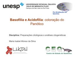 Basofília e Acidofilia: Coloração do Panótico