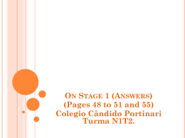 On Stage 1 (Answers)