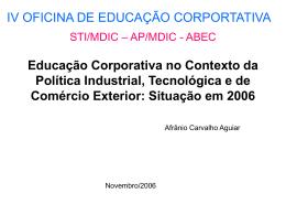 Educação Corporativa no Contexto da Política Industrial / Afrânio