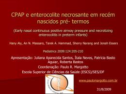 CPAP e enterocolite necrosante em recém nascidos pré