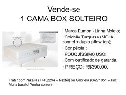 Vende-se 2 CAMAS BOX SOLTEIRO
