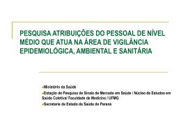 PESQUISA ATRIBUIÇÕES DO PESSOAL DE NÍVEL MÉDIO QUE
