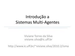 Introdução a Sistemas Multi-Agentes - Instituto de Computação
