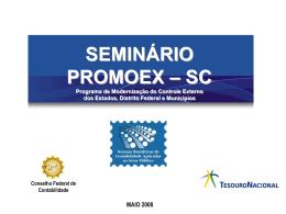 SC_Palestra para PROMOEX - Tribunal de Contas do Município de