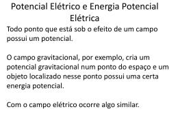 Potencial Elétrico e Energia Potencial Elétrica