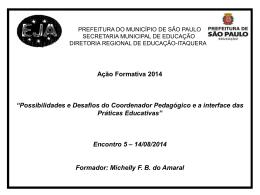 Encontro 5_EJA - Secretaria Municipal de Educação