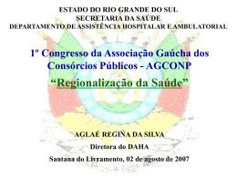 Regionalização da Saúde - Secretaria da Saúde