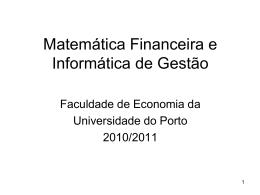 acetatos - FEP - Universidade do Porto