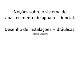 Desenho de instalações Hidráulicas e Sanitária.
