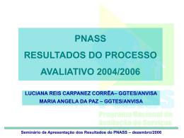 Seminário de Apresentação dos Resultados do PNASS