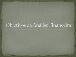 Objetivos da Análise Financeira