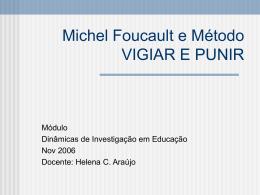 Michel Foucault e Método