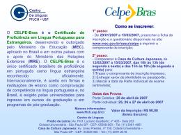 CELPE-Bras – Certificado de Proficiência em Língua Portuguesa