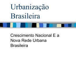 Urbanização Brasileira II