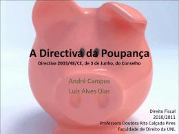 A Directiva da Poupança