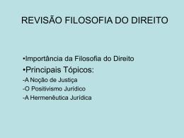 REVISÃO FILOSOFIA DO DIREITO
