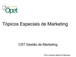 CONCEITOS - Tópicos Especiais de Marketing