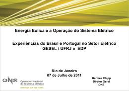 Energia Eólica e a Operação do Sistema Elétrico - Nuca