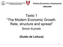 "Texto 1 – ""The Modern Economic Growth: rate, stucture and"