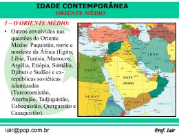 o oriente médio - Capital Social Sul