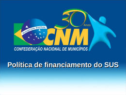 Financiamento do SUS