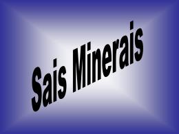 Sais Minerais - Curso e Colégio Acesso
