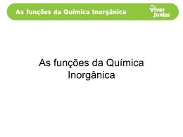 As funções químicas inorgânicas