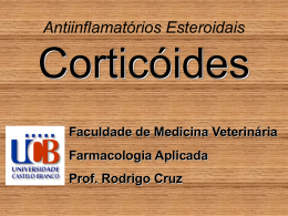 Antiinflamatórios Esteroidais Corticóides
