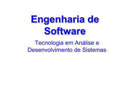 Engenharia de Software - Professor Gabriel Baptista