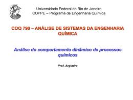 Apresentação do PowerPoint - Programa de Engenharia Química