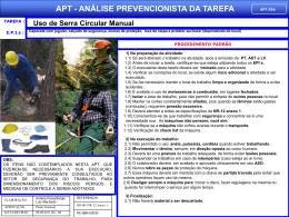 APT 36 - Uso de Serra Circular Manual