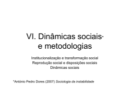 Dinâmicas sociais