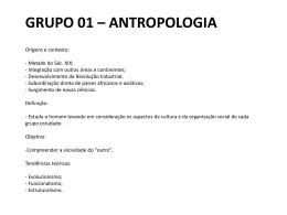 grupo 01 – antropologia