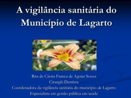 A vigilância sanitária do Município de Lagarto