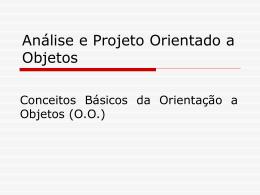 Análise e projeto UML -01