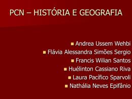 PCN – HISTÓRIA E GEOGRAFIA