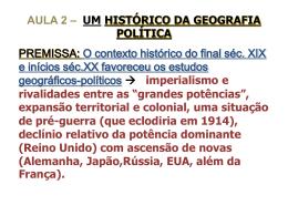 Um Histórico da Geografia Política