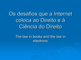 Diapositivo 1 - Faculdade de Direito da UNL